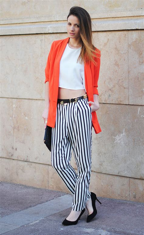 black and white pattern pants outfit trend spotting best of black white stripes