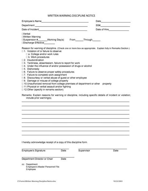 free download employee write up form templatezet