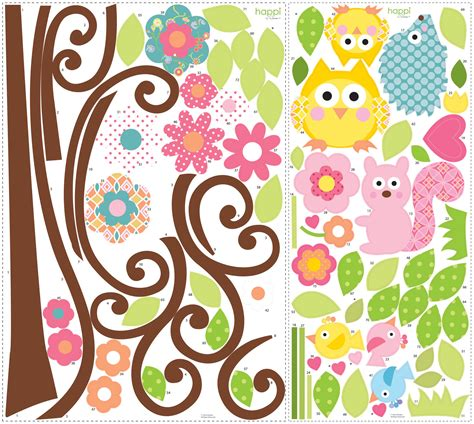 Room Mates Wall Stickers roommates wall stickers scroll tree megapack peel and