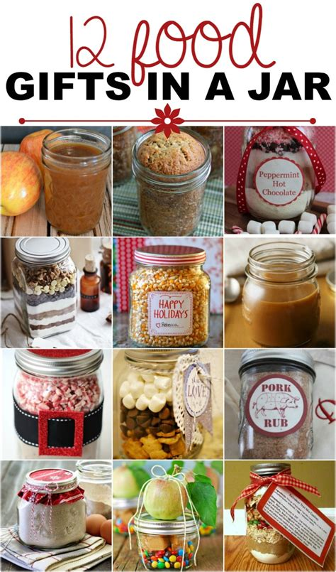 gifts food food gifts in a jar recipes