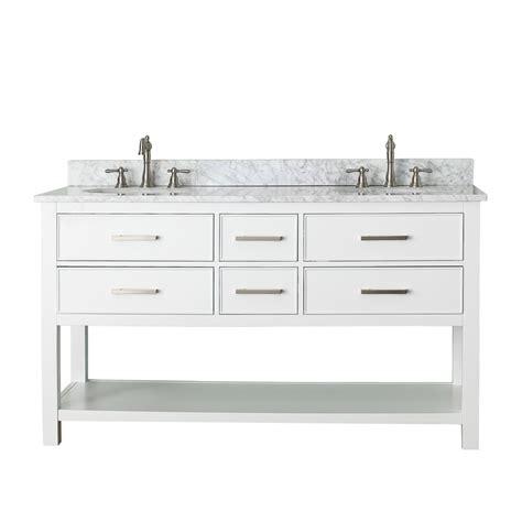 Avanity Brooks 60 Quot Double Bathroom Vanity White Free Bathroom Vanity 60