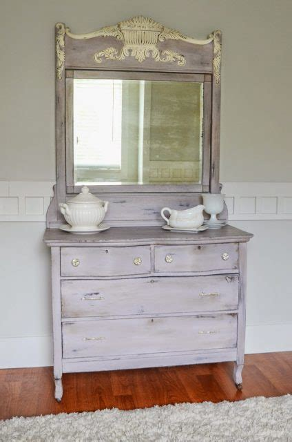 Beautifully Refinished Purple Chest with Silver Backed