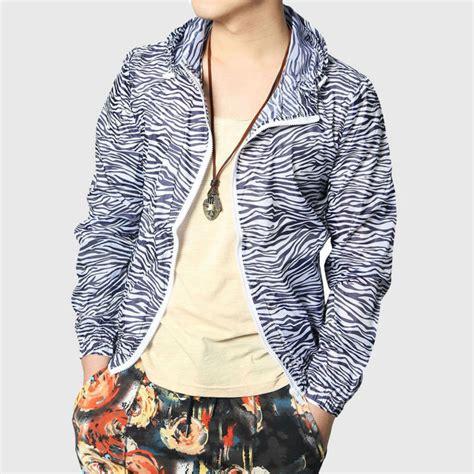 Grandwish Printing Jackets Thin Coat Korean Design Slim M 1 striped jacket hooded america zebra stripe print thin coats slim black sleeve