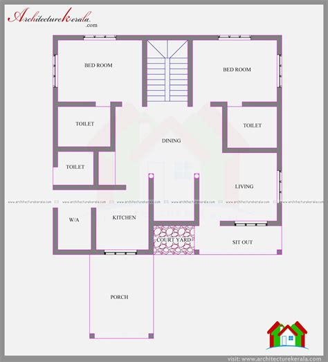 Plan For 4 Bedroom House In Kerala by Four Bedroom House Plan And Elevation