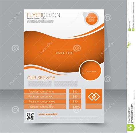 Flyer Template Business Brochure Editable A4 Poster Stock Vector Illustration 53545454 Free Editable Flyer Templates