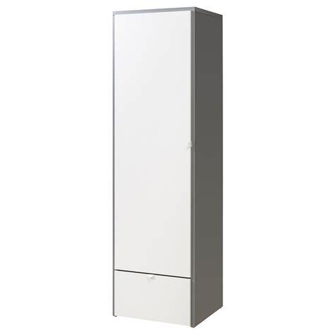 schrank 80 x 80 visthus wardrobe grey white 63x59x216 cm ikea