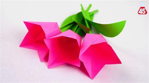costruire fiori di carta tutorial fiori di carta semplice tulipani fai da te