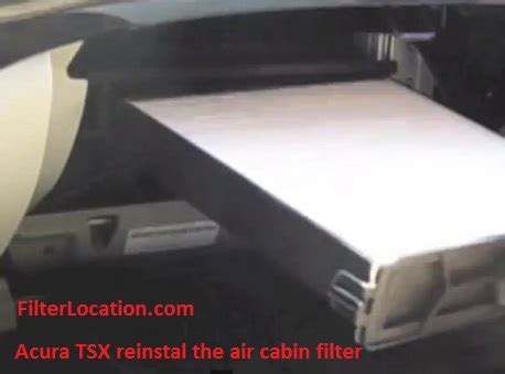 Acura Tsx Cabin Air Filter by Acura Tsx Cabin Air Filter Location Filterlocation