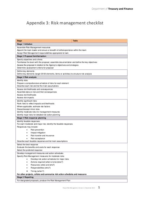 obsolescence plan template project risk management guideline department