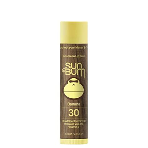 7 Great Lip Balms With Spf For Summer by Sun Bum Sunscreen Lip Balm Banana Spf 30 15oz Stick