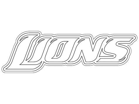 detroit lion coloring pages detroit lions logo pictures kids coloring