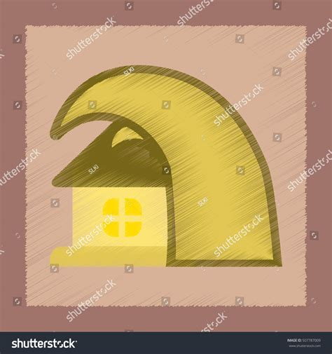 tsunami house music flat shading style icon tsunami house stock vector 507787009 shutterstock