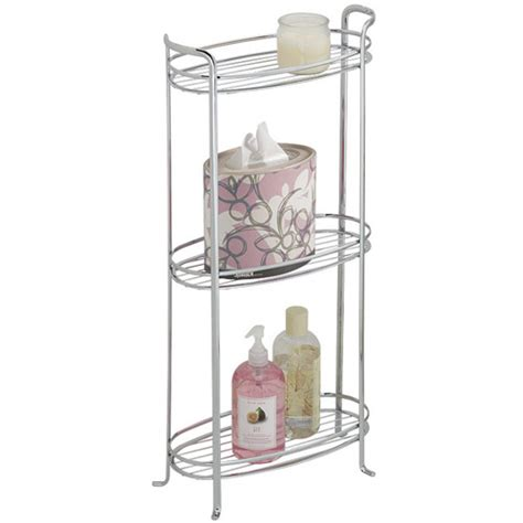 Chrome Bathroom Shelves 3 Tier Bathroom Shelf Chrome In Bathroom Shelves