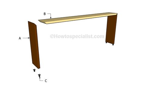 rolling bed table rolling bed table plans howtospecialist how to build