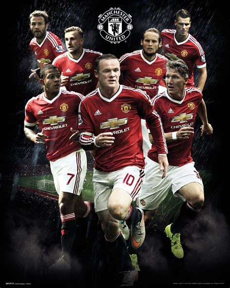 official manchester utd 2016 official manchester united 2015 2016 football club players picture frame