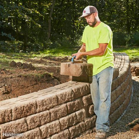 build  long lasting block retaining wall  family