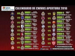 Calendario De Juegos Liga Mx Chivas Calendario De Chivas Apertura 2016