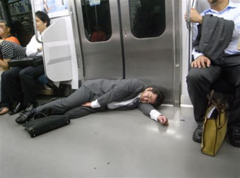 Japanese Sleeper japanese employees are literally dying from being overworked