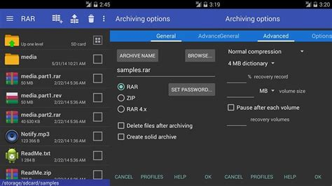 rar android 5 meilleures applications zip rar et unzip pour android info24android