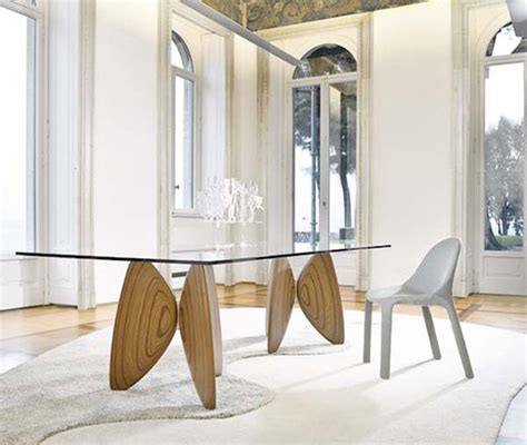 glass wood dining table combination iroonie