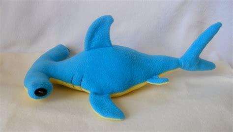 shark plush handmade hammerhead shark plush