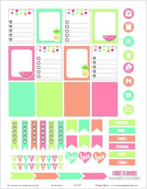 printable planner cards 15 free planner printables blitsy