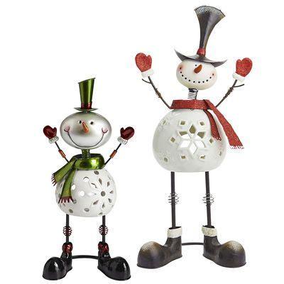 bobblehead holder bobblehead snowman tealight holders