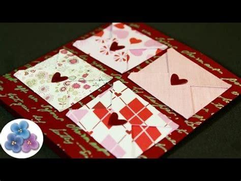 tutorial tarjetas scrapbook como hacer tarjetas de amor para san valentin diy card