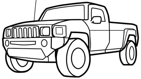 pick up truck free coloring pages on art coloring pages
