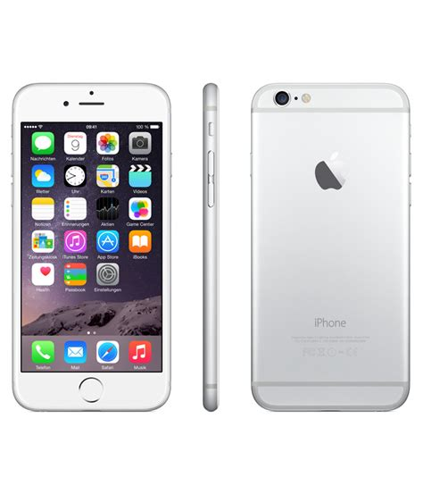 Iphone 16gb apple iphone 6 plus silver 16gb kaicell