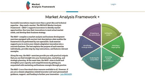 market analysis development of the brigaid market analysis framework maf