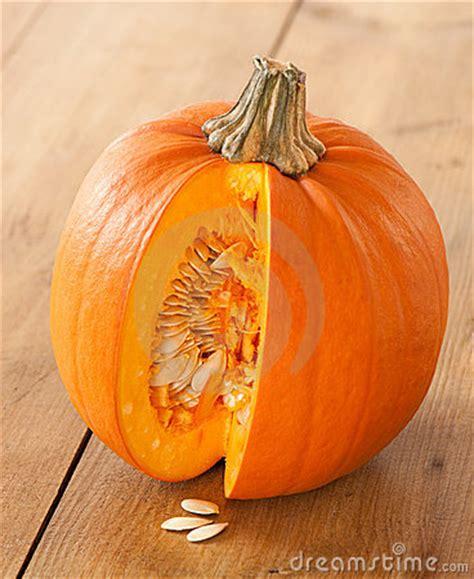 how to cut pumpkin cut pumpkin exposing seeds stock photos image 11253523