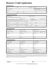 business credit application template a standard credit application form gives you the general