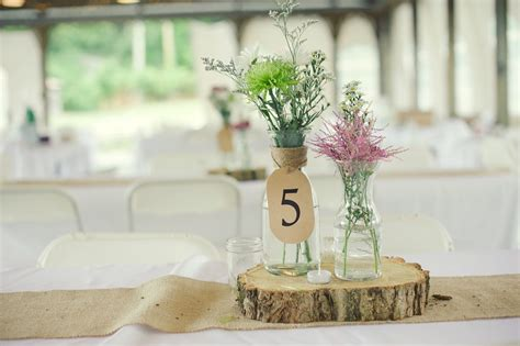Simple Centerpieces To Make Rustic Wedding Real Wedding Photos Simple