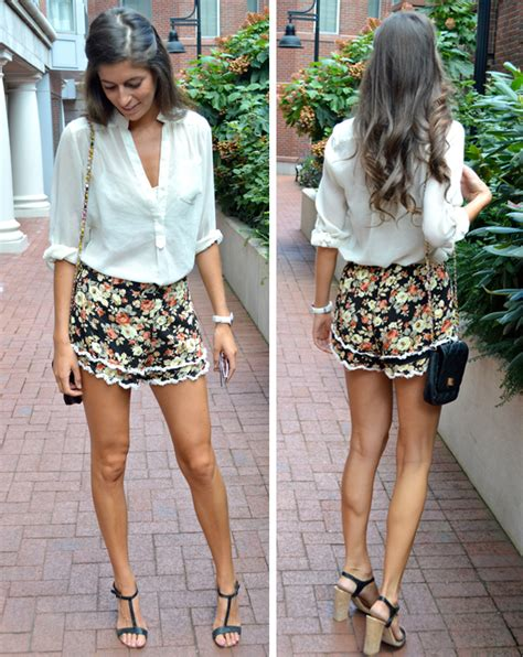 black and white patterned shorts outfit the gallery for gt black floral shorts outfit
