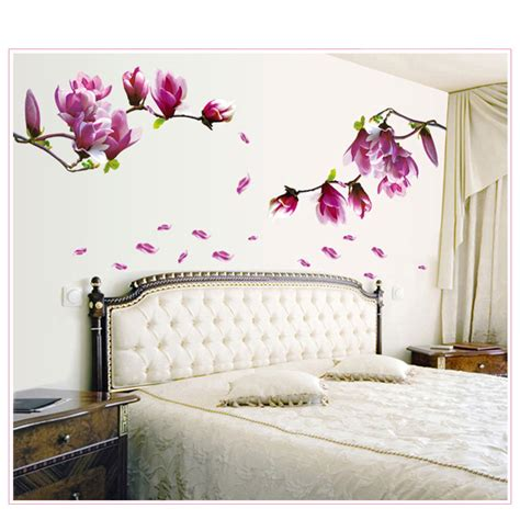 pcflower wall sticker  vinyl wall decals living room home decor bedroom poster wall stickers