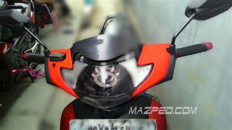 Lu Projie Honda Beat pasang projie cob di supra x 125 part 2 mazped