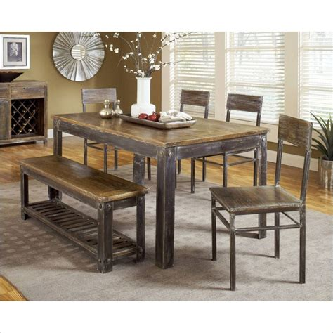 walnut dining room sets farmhouse 7 piece dining room set in antique walnut