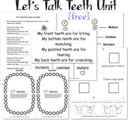 teeth printables for let s talk teeth unit a to z