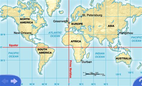 world map with equator and prime meridian www pixshark