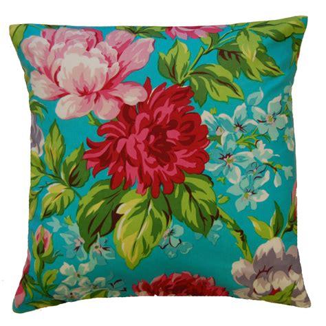 Flower Cushion dahlia flower print cushion covers 18 quot x 18 quot modern floral