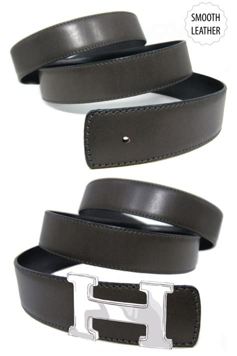 smooth calfskin belt for hermes buckle belt kit
