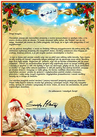 Vom Weihnachtsmann Briefvorlage brief vom weihnachtsmann vorlage muster elfi