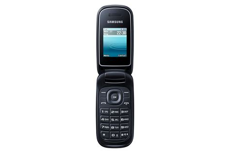 Samsung Flip Samsung E1270 Black Flip Mobile Phone Locked To