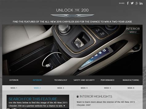 Chrysler Sweepstakes by Chrysler Unlock The 200 Sweepstakes