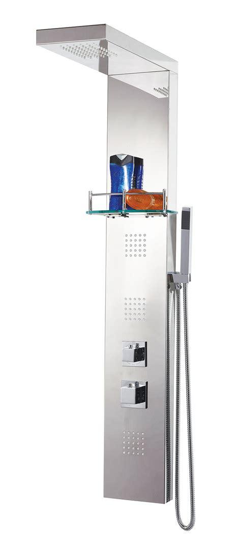 Thermostat Shower Column Set K003 square stainless steel thermostatic shower column sc002