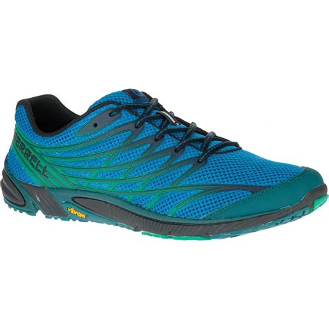 running shoes drop merrell mens bare access 4 mykonos blue zero drop running