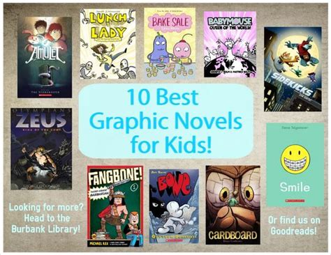 27 best images about graphic novels for kids 10 best graphic novels for kids burbank public library library ideas graphic
