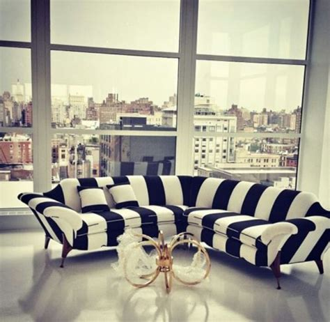 black and white striped sofa looooove black and white striped for the home