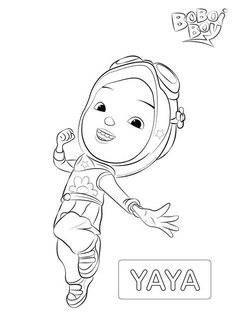 Watak Yaya Boboi Boy - Gambar Mewarna